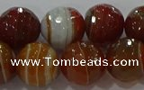 CAG9233 15.5 inches 12mm faceted round line agate beads wholesale