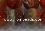 CAG9235 15.5 inches 16mm faceted round line agate beads wholesale