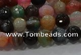 CAG9251 15.5 inches 10mm faceted round line agate beads wholesale