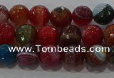 CAG9264 15.5 inches 8mm faceted round line agate beads wholesale