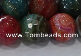 CAG9268 15.5 inches 16mm faceted round line agate beads wholesale