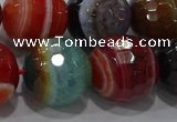 CAG9269 15.5 inches 18mm faceted round line agate beads wholesale
