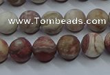 CAG9292 15.5 inches 8mm round matte Mexican crazy lace agate beads