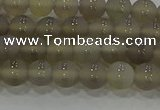 CAG9343 15.5 inches 6mm round matte grey agate beads wholesale
