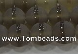 CAG9346 15.5 inches 12mm round matte grey agate beads wholesale