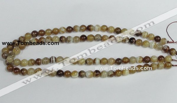 CAG937 16 inches 8mm round madagascar agate gemstone beads