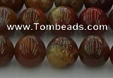 CAG9393 15.5 inches 10mm round red moss agate beads wholesale