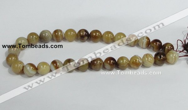 CAG940 16 inches 14mm round madagascar agate gemstone beads