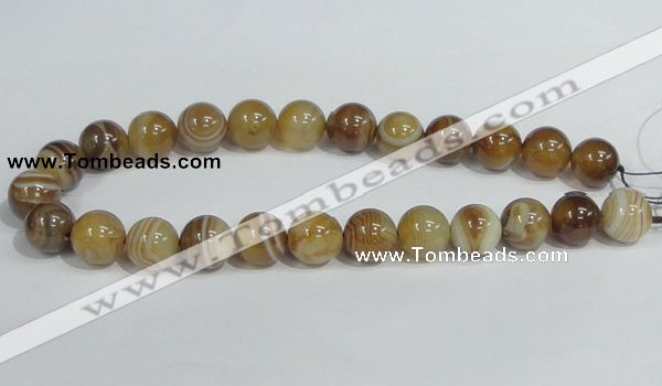 CAG941 16 inches 16mm round madagascar agate gemstone beads