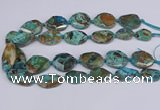 CAG9412 15.5 inches 20*25mm - 25*35mm freeform ocean agate beads
