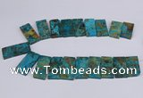 CAG9417 Top drilled 20*35mm - 20*45mm rectangle ocean agate beads