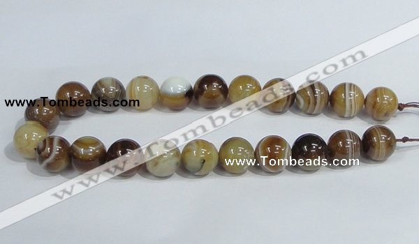 CAG942 16 inches 18mm round madagascar agate gemstone beads