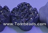 CAG9422 7.5 inches 16*16mm flower silver plated druzy agate beads