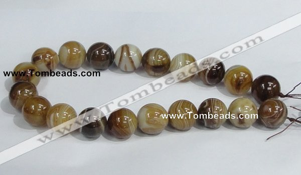 CAG943 16 inches 20mm round madagascar agate gemstone beads