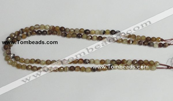 CAG944 16 inches 6mm faceted round madagascar agate gemstone beads