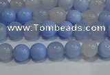 CAG9445 15.5 inches 4mm round blue agate beads wholesale