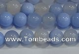 CAG9446 15.5 inches 6mm round blue agate beads wholesale