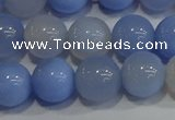 CAG9447 15.5 inches 8mm round blue agate beads wholesale