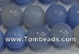 CAG9448 15.5 inches 10mm round blue agate beads wholesale