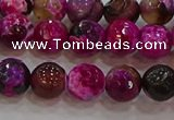 CAG9467 15.5 inches 8mm faceted round fire crackle agate beads