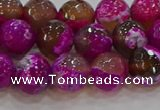 CAG9468 15.5 inches 10mm faceted round fire crackle agate beads