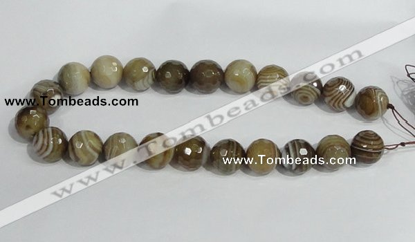 CAG950 16 inches 18mm faceted round madagascar agate gemstone beads