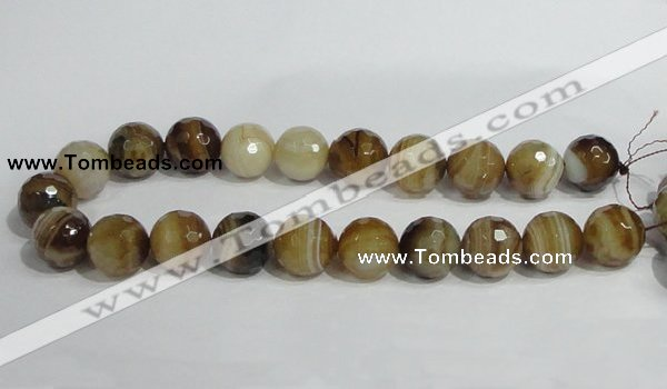 CAG951 16 inches 20mm faceted round madagascar agate gemstone beads