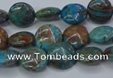 CAG9513 15.5 inches 10mm flat round blue crazy lace agate beads