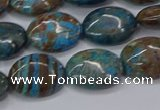 CAG9521 15.5 inches 12*16mm oval blue crazy lace agate beads