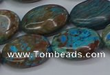CAG9523 15.5 inches 15*20mm oval blue crazy lace agate beads