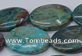 CAG9525 15.5 inches 22*30mm oval blue crazy lace agate beads