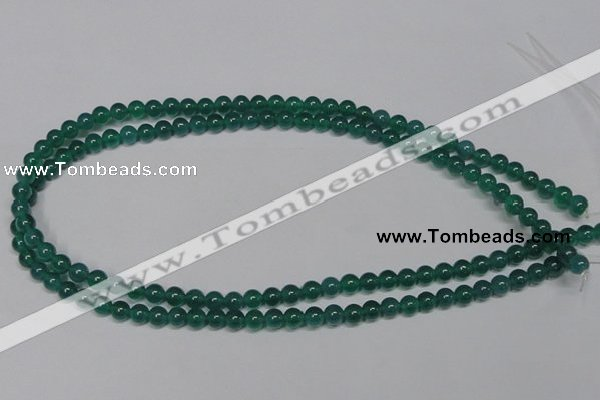 CAG953 15.5 inches 6mm round green agate gemstone beads wholesale