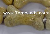 CAG9537 15.5 inches 22*40mm - 25*45mm bone chrysanthemum agate beads