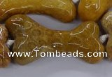 CAG9538 15.5 inches 22*40mm - 25*45mm bone chrysanthemum agate beads