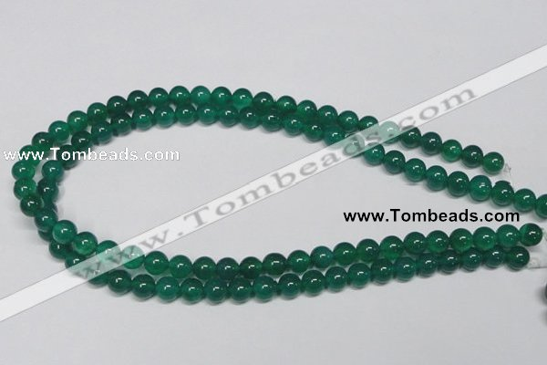 CAG954 15.5 inches 8mm round green agate gemstone beads wholesale