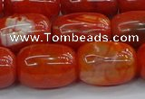 CAG9544 15.5 inches 13*18mm drum dragon veins agate beads