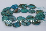 CAG9552 15.5 inches 25*35mm - 30*40mm freeform ocean agate beads