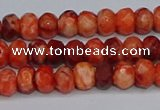 CAG9571 15.5 inches 4*6mm faceted rondelle crazy lace agate beads