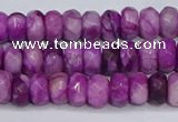 CAG9572 15.5 inches 4*6mm faceted rondelle crazy lace agate beads