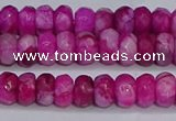 CAG9573 15.5 inches 4*6mm faceted rondelle crazy lace agate beads