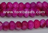 CAG9574 15.5 inches 4*6mm faceted rondelle crazy lace agate beads