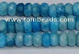CAG9577 15.5 inches 4*6mm faceted rondelle crazy lace agate beads