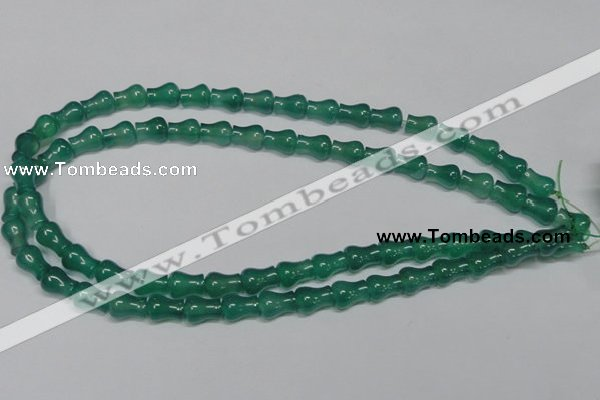 CAG959 15.5 inches 9*11mm vase-shaped green agate gemstone beads