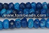 CAG9593 15.5 inches 5*8mm faceted rondelle crazy lace agate beads