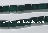 CAG961 15.5 inches 8*8mm cube green agate gemstone beads wholesale