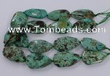 CAG9619 15.5 inches 30*45mm - 35*50mm freeform ocean agate beads