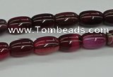 CAG9623 15.5 inches 8*12mm drum dragon veins agate beads wholesale