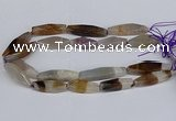 CAG9636 15.5 inches 12*45mm - 12*50mm freeform agate beads