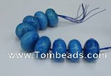 CAG9684 7.5 inches 20*35mm rondelle agate gemstone beads
