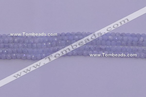 CAG9728 15.5 inches 4mm faceted round blue lace agate beads